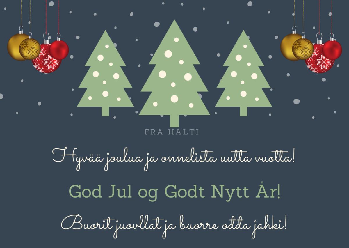Halti åpningstider jul og nyttår